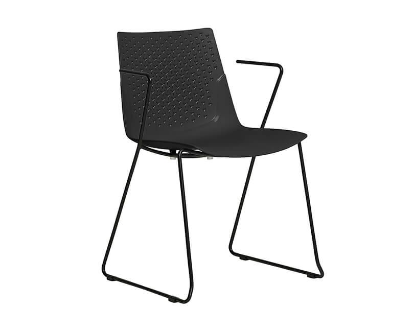 Levně Muzza židle edda černá