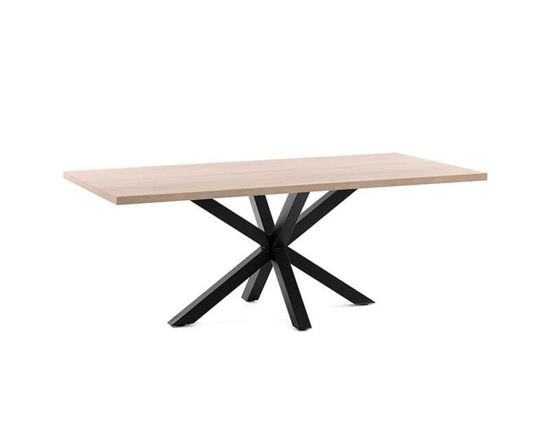 JÍDELNÍ-STŮL-ARYA-TABLE-160X100-ČERNÝ,-PŘÍRODNÍ_