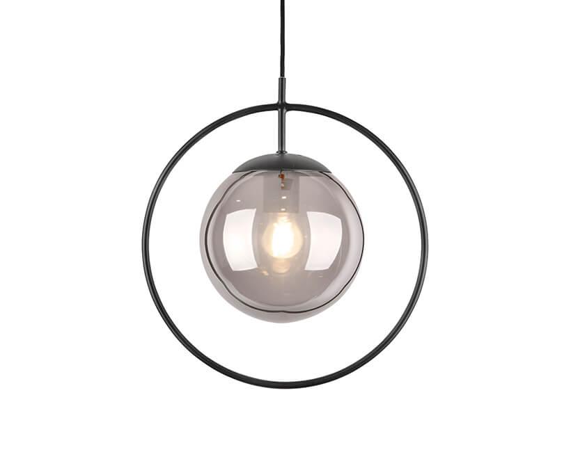 Levně Muzza Stropní lampa round framed šedá