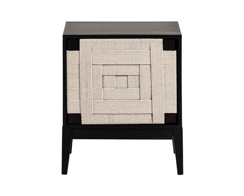 Levně Muzza Noční stolek shami 50 x 60 černý